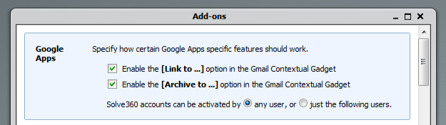 Integrates with Google Apps and Google Accounts