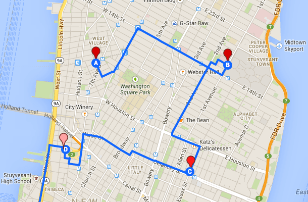 Google Maps Solve - Map your route